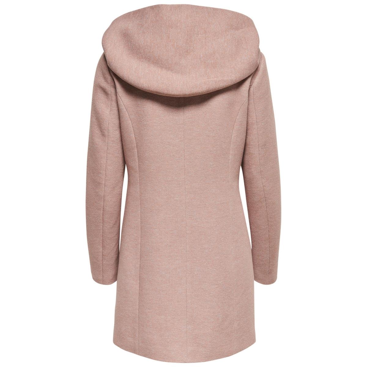 onlsedona light coat otw noos 15142911 only jas mocha mousse/melange