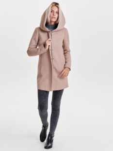 onlsedona light coat otw noos 15142911 only jas mocha mousse/melange