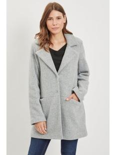 vidory coat/pb 14047061 vila jas light grey melange