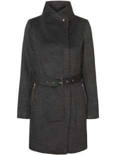 vmtwo dope 3/4 wool jacket 10150079 vero moda jas dark grey melange