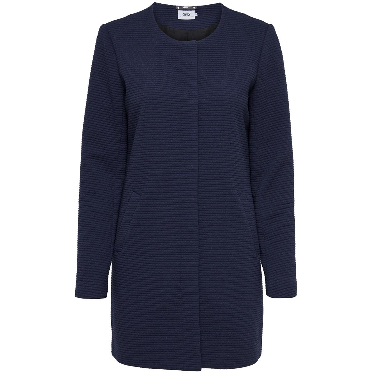 onlsidney link spring coat cc otw 15167851 only jas black iris/melange