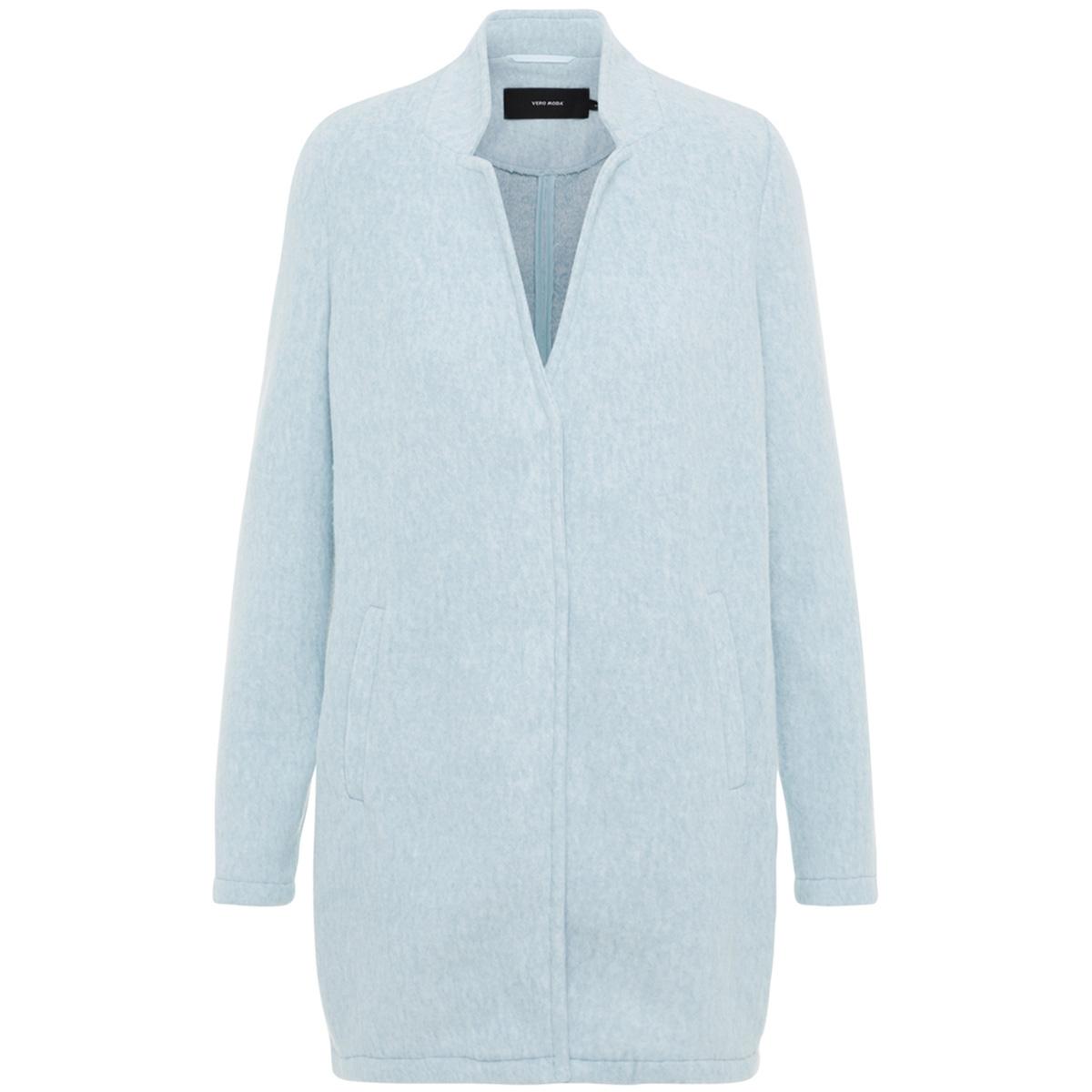 vmbrushed katrine  3/4 jacket boos 10198835 vero moda jas smoke blue/melange