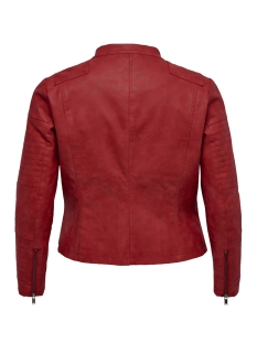 caravana faux leather biker ss 19 15172207 only carmakoma jas high risk red/gun spend