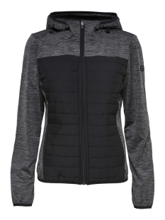 Only Play Sport jas onpVERA QUILTED HOOD JACKET 15166316 Dark Grey Melan/ W BLACK