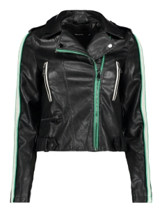 Vero Moda Jas VMINA SHORT FAUX LEATHER JACKET 10209255 Black/HOLLY GREEN