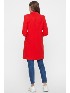 vmcindy cala 3/4 jacket boos 10207000 vero moda jas fiery red