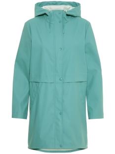 vmfriday 3/4 coated jacket 10206601 vero moda jas smoke blue