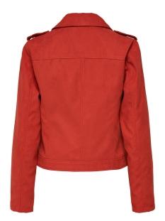 jdyinu short faux suede jacket otw 15168643 jacqueline de yong jas fiery red