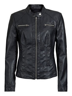 Only Jas onlBANDIT FAUX LEATHER BIKER OTW NOOS 15081400 Black