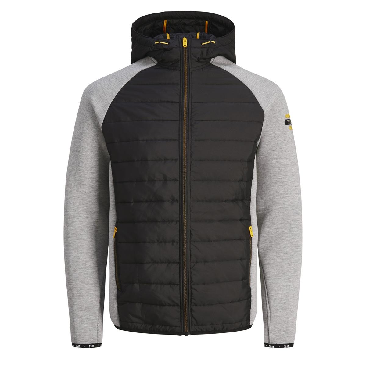 jcocombi jacket 12148583 jack & jones jas light grey melange
