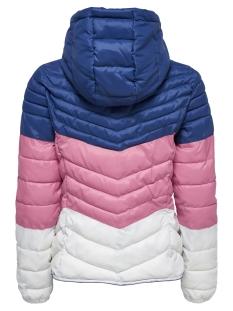 onldemi blocked hooded jacket cc ot 15168565 only jas navy peony/ pink lemon