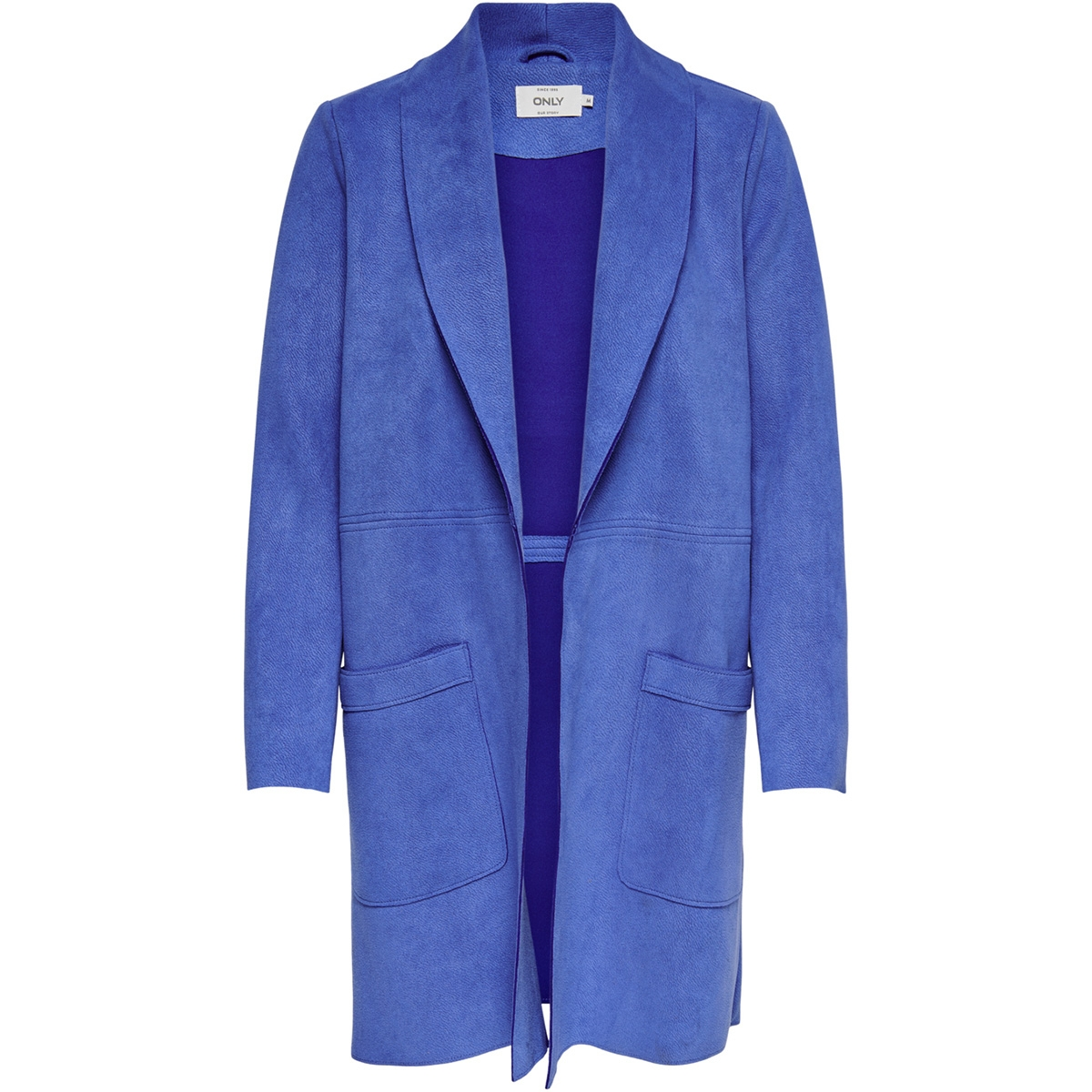 onljosephine faux suede coat otw 15158685 only jas dazzling blue