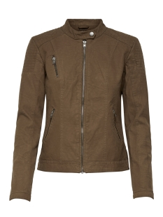 onlsteady faux leather jacket otw 15171440 only jas cognac