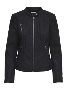 Only Jas onlSTEADY FAUX LEATHER JACKET OTW 15171440 Black