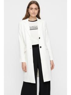 vmclean glam 3/4 jacket 10209182 vero moda jas snow white