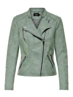 Only Jas onlAVA FAUX LEATHER BIKER OTW NOOS 15102997 Chinois Green