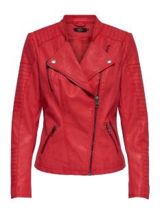 onlava faux leather biker otw noos 15102997 only jas high risk red