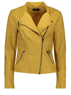 Only Jas ONLAVA FAUX LEATHER BIKER OTW NOOS 15102997 Yolk Yellow
