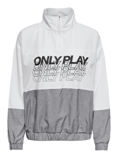 onpsunset highneck anorak 15170272 only play sport jas white/w. lgm