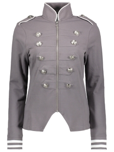 Zoso Vest SONIA MILITARY LOOK JACKET 192 GREY/WHITE