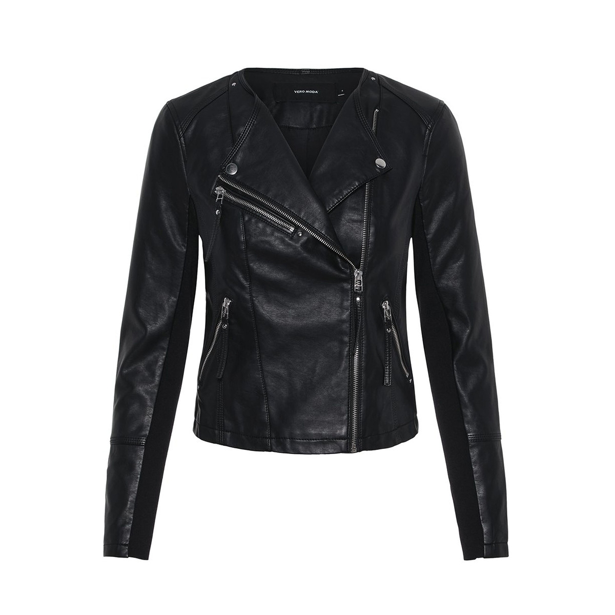 vmria fav short faux leather jacket 10211420 vero moda jas black