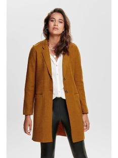 onlnew ella wool coat cc otw 15139120 only jas pumpkin spice/melange