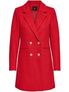 onlramona wool coat cc otw 15180899 only jas fiery red