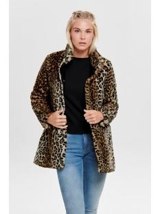 onlvida leo faux fur coat cc otw 15185757 only jas tannin/leo