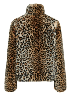onlvida leo faux fur jacket cc otw 15185113 only jas tannin/leo
