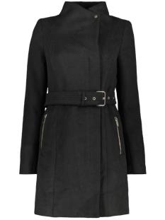 vmtwo dope 3/4 wool jacket rep 10224252 vero moda jas black