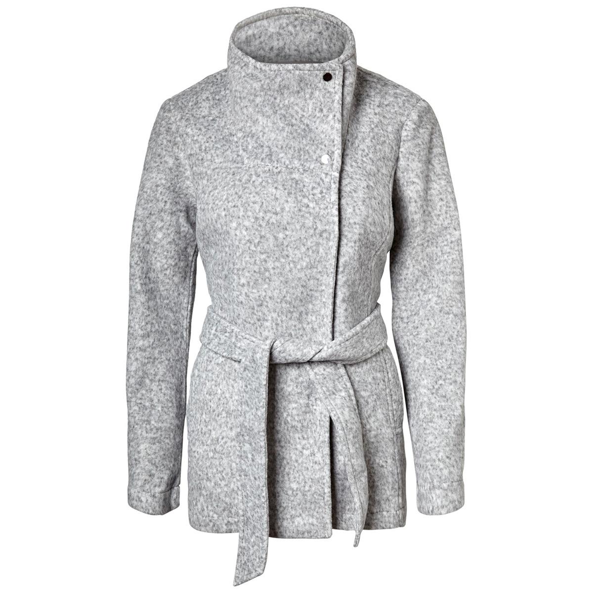vmbrushed myra jacket boos 10214817 vero moda jas light grey melange