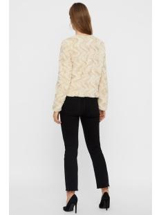 vmcurl short faux fur jacket col 10202512 vero moda jas oatmeal