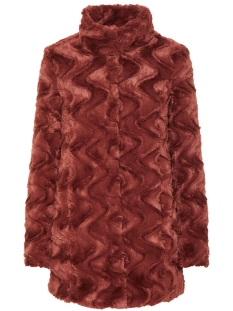 Vero Moda Jas VMCURL HIGH NECK FAUX FUR JACKET NOOS 10203269 Mahogany
