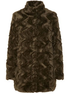 Vero Moda Jas VMCURL HIGH NECK FAUX FUR JACKET CO 10198763 Peat