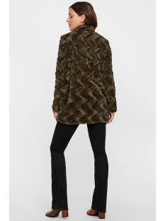 vmcurl high neck faux fur jacket co 10198763 vero moda jas peat