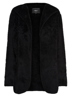 Only Vest ONLNEWCONTACT HOODED SHERPA COAT OTW 15161142 Black