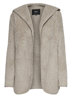 Only Vest ONLNEWCONTACT HOODED SHERPA COAT OTW 15161142 Cuban Sand