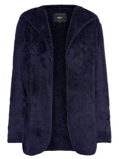 Only Vest ONLNEWCONTACT HOODED SHERPA COAT OTW 15161142 Night Sky