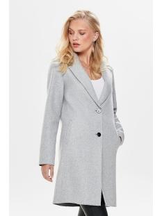 onlcarrie bonded coat cc otw 15180872 only jas light grey melange