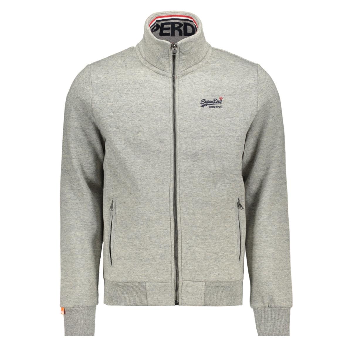 orange label track top m2000027a superdry vest jasper grey grindle