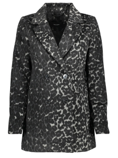 vmcocoleopard jacket 10217336 vero moda jas dark grey melan/leo