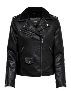 Only Jas ONLTAYLOR FAUX LEATHER BIKER OTW 15182898 Black