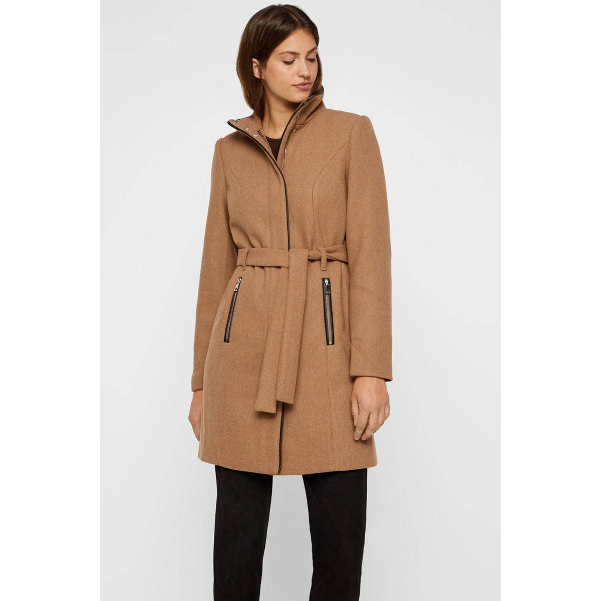 vmclassbessy 3/4 wool jacket ga noos 10199024 vero moda jas tigers eye