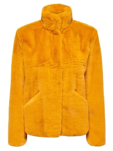onlvida faux fur jacket otw noos 15160013 only jas golden yellow