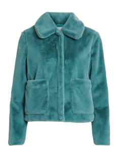 Vila Jas VIKODA FAUX FUR SHORT JACKET/TB 14053401 Oil Blue