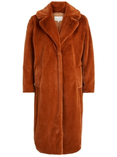 Vila Jas VIKODA FAUX FUR  COAT 14053693 Toffee