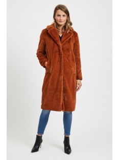 vikoda faux fur  coat 14053693 vila jas toffee