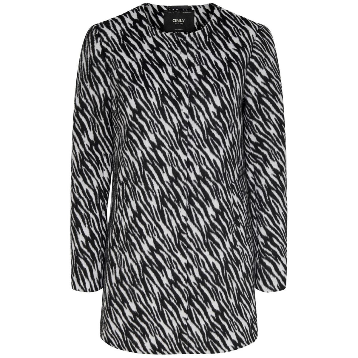 onlanni zebra coat otw 15190113 only jas cloud dancer/zebra