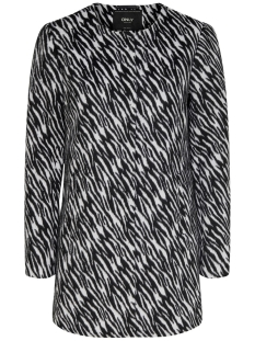 Only Jas ONLANNI ZEBRA COAT OTW 15190113 Cloud Dancer/ZEBRA