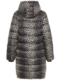 pceve long padded jacket bf 17097010 pieces jas peyote/leopard pe
